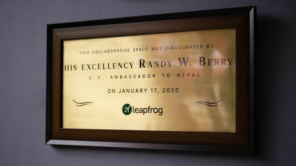 H.E Randy Berry visits Leapfrog